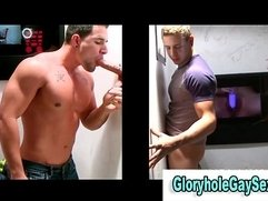 Amateur straight hunk gets blowjob