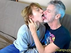 Gay 18-year-old Twink & 50yo Daddy Kissing and Tongue Worship - Elis Ataxxx - Richard Lennox - Manpuppy