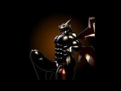 Cyberdramon Muscle Inflation by DigitalFurBelow 3d gay games