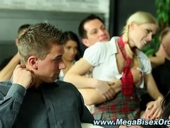 Orgy group in class learn