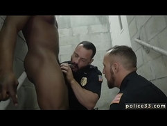 Gay hot police porn and hairy male man Fucking the white with