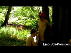 Free gay porn videos emo Skylar West has been waiting in the forest