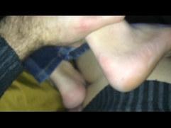 Much drinking in Praha. Much fucking his feet