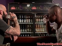 Gaysex interracials mmm fun in a bar