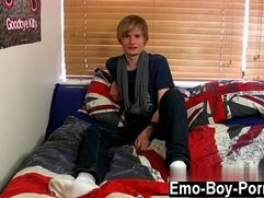 Hot gay Brent Daley is a super-cute ash-blonde emo man one of our