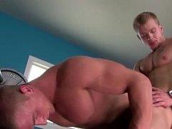 Pornstar Marcus Mojo anal cumshot