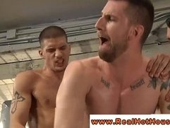 Tight muscle ass plowed by thick hunk