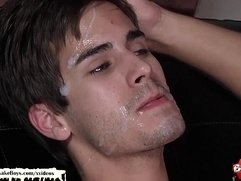 Christmas Bukkake Boys facial cumshot compilation