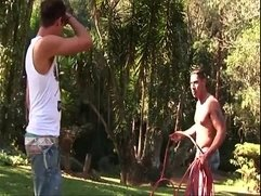 Hot muscled gay latino hunks hardcore outdoor anal pounding fun