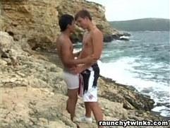Sean With His Hot Boyfriend Seaside Fucking