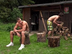 Outdoor fuck Arny and Paul