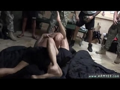 Military hand job gay The Troops came well-prepped to party!